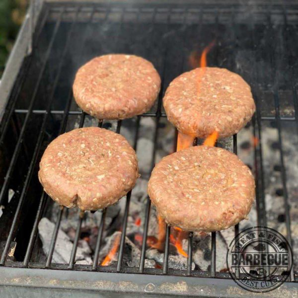 Angus burger op barbecue